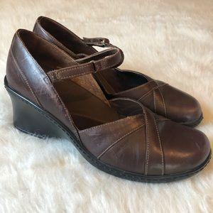 Clark's | Brown MaryJane Wedge Style Size 10